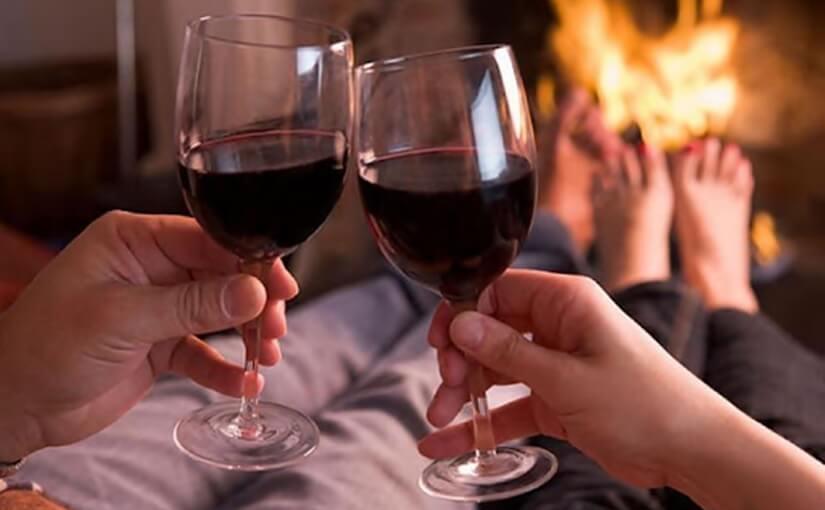 Luxury escort red wine